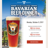 Get Your Tickets For Our Oktoberfest Beer Dinner Now!