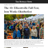 [BN] News: The 10: Ellicottville Fall Fest, Iron Works Oktoberfest