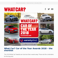 2018 What Car? Car of the Year contenders | New Nissan Leaf review | Land Rover Defender returns