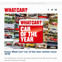 Every Car of the Year since 1978 | New Audi RS4 Avant review | Used Citroën C4 Cactus vs Suzuki Vitara