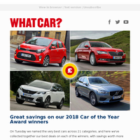Save on our 2018 Car of the Year Award winners | New Volvo XC40 review | Best used 4x4s