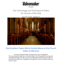 Top 5 Reasons to Attend Videomaker's Conference in June