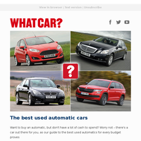 The best used automatic cars | New Range Rover Sport review | Dacia Sandero one-year test