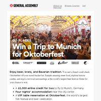 Win a trip for 2 to Oktoberfest in Munich, Germany