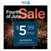 Here's a SALE to celebrate! Get your sparklers ready.