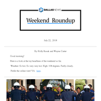 Dallas motorcycle officer killed, Jeffers defends Trump, heat wave rolls on: Your weekend roundup