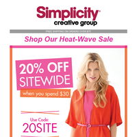 Shop our Heat-Wave Sale, 20% Off Sitewide