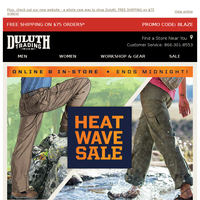 Ends Midnight - 20% OFF Heat Wave Savers!