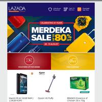 Merdeka Sale Up to 80% Off, Celebrating 61 Years!
