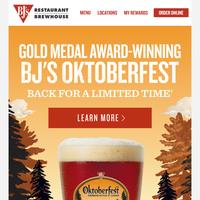 Our New Seasonal Beer is Here: BJ's Oktoberfest