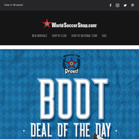 Get Set for Oktoberfest with Das Boot of the Day and More German Gear!