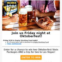 🍺 Oktoberfest is this weekend!