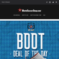 Oktoberfest Specials on Germany Jerseys + Another Boot Deal of the Day
