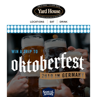 {NAME}, win a trip for 2 to Oktoberfest 2019!