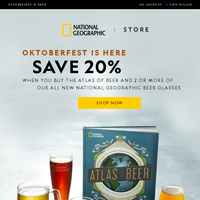 Celebrate Oktoberfest with all new National Geographic beer glasses!