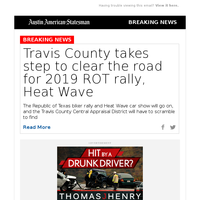 Travis County takes step to clear the road for 2019 ROT rally, Heat Wave