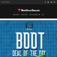Free UCL Badges on Select Jerseys + Our Oktoberfest Boot Deal of the Day