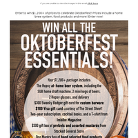 Win All the Oktoberfest Essentials including a Home Brew System!