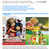 50 Beautiful Friendship Day Greetings Designs and Quotes - August 7 & 4 items