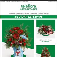 $10 Off: Festive Bouquets That Shine
