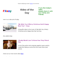 ★ Video of the Day & Quote of the Day - by Flixxy.com - \