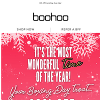 Your Boxing Day Treat Ends Soon