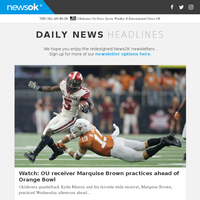 Watch: OU receiver Marquise Brown practices ahead of Orange Bowl