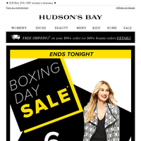 FINAL DAY! Her 6 top Boxing Day deals—shop 'em quick!