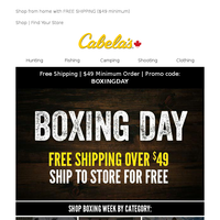 Boxing Day is ON In Store and Online