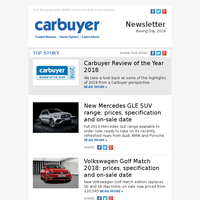 Carbuyer Review of the Year 2018 | New Mercedes GLE | Volkswagen Golf Match