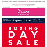 Boxing Day Daily Deals. $12 Clifton Umbrellas & more.