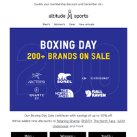 Boxing Day continues | up to 50% off