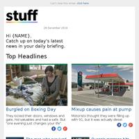 Burgled on Boxing Day