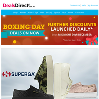 SHOP Amazing Boxing Day Deals - Superga | Prada | Gina Bacconi | Dresses To Impress | Designer Fragrance | Guess Shoes | La Moda | 24 HR QF:  Havaianas, Religion, Dr Martens, Nike