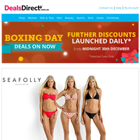 Boxing Day Special Discounts On Now - Seafolly | BBBYO | Versace Collection | Camilla & Marc, M. N. G | Global Knives | Versace Collection | Toms