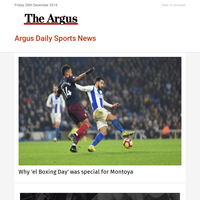 Argus Daily Sports News: Why 'el Boxing Day' was special for Montoya