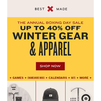 Round 3: The Annual Boxing Day Sale