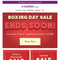 TICK TOCK! ⏰ Boxing Day Sale ends soon!