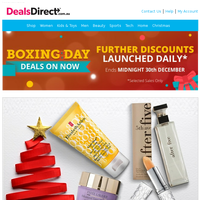 Boxing Day Deals Ending Today - Elizabeth Arden & Estee Lauder | Ralph by Ralph Lauren | Free People, Celebrity Pink | Amouage, Dior, Valentino | 24 HR QF:  Fat Face, Guess, KitchenAid , Sass & Belle, BBBYO, Closet London, Versace Collection