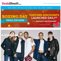 Boxing Day Special Discounts On Now - G-Star | Tutto Piccolo | Asics & Onitsuka Tiger | Festive Quilt Sets | The Candle Event | Orla Kiely | Bourjois, Maybelline, L'Oreal, | Lorna Jane