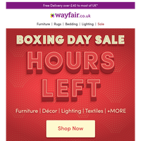 Shop BOXING DAY ⏰ Time's running out!