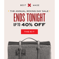 Bring It Home: Boxing Day Sale Ends Tonight