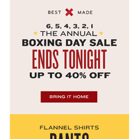 T-6 Hours: The Annual Boxing Day Sale