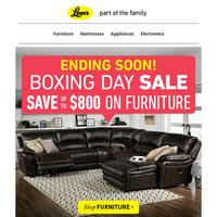 Leon's Boxing Day Sale Ends Soon!