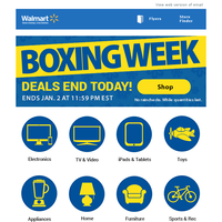 Last day for Boxing Week deals!