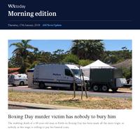 Boxing Day murder victim has nobody to bury him