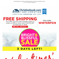 Free Shipping + Bright & Blissful Sale