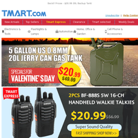 Happy Holiday Perfect Deal >> 20L 0.8mm Jerry Can $20.99 + 10 Tons Hydraulic Pliers $26.99 ONLY