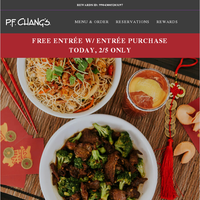 Free Entrée for Chinese New Year!