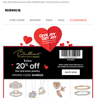 Save 15% + 20% on the perfect Valentine's Day gift!